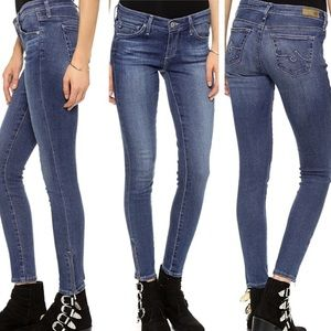 ANTHROPOLOGIE AG ZIP UP ANKLE SKINNY JEANS 26